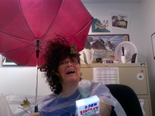 Halloween Costume 2009: A reporter in a hurricane